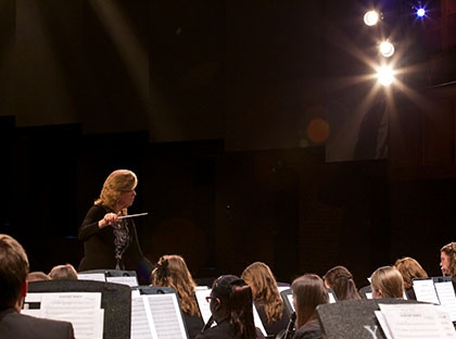 """Young Harris College Concert Band will present """"Music of the Macabre,"""" a mixed media concert that will including dance, interactive media and more."""