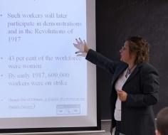 teacher instructing