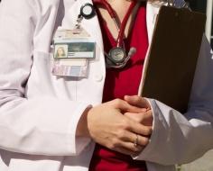 doctor in labcoat
