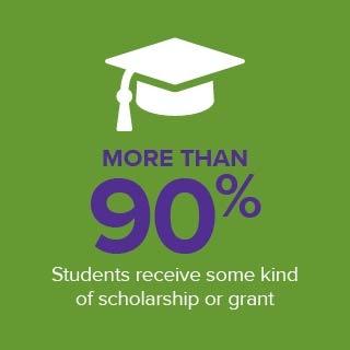 90% scholarship box